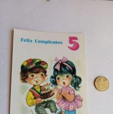 Postales: POSTAL ANTIGUA, FELIZ CUMPLEAÑOS 5. Lote 199295942
