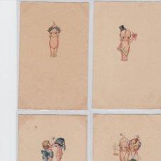 Cartes Postales: SERIE DE 7 POSTALES ILUSTRADAS DE KEWPIE .. Lote 199723407