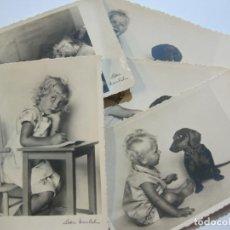 Postales: 5 POSTALES FOTOGRAFICAS DE NIÑOS-FOTOGRAFO LOTTE HERRLICH-VER FOTOS-(69.191). Lote 202350536