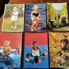 Postales: 6 POSTALES INFANTILES AÑOS 60. Lote 202573112