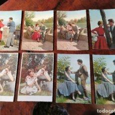 Postales: 8 POSTALES DE PAREJAS AMOROSA. Lote 202573553