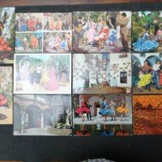 Postales: ESPAÑA TÍPICA, LOTE DE 11 POSTALES. Lote 202713658