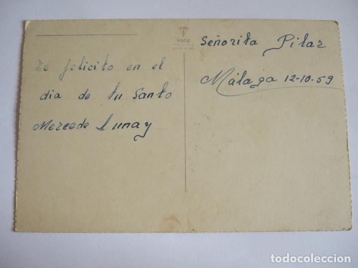 Postales: POSTAL FLORES ROSAS - ESCRITA 1959 - Foto 2 - 202841577