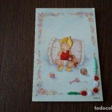 Postales: POSTAL DE ESPAÑA, BORDADA EN HILO, NIÑO JUGANDO. 6365-B. Lote 202910977