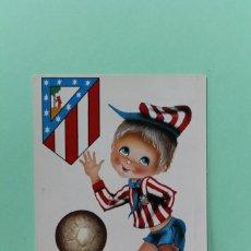 Postales: POSTAL ATLETICO DE MADRID. MARCA SAVIR. MEDIDAS 10,3 X 14,9 CM. DIBUJA CASTAÑER. AÑO DESCONOCIDO.. Lote 204408221