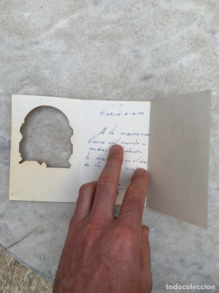 Postales: Tarjeta Postal objeto felicitación desplegable Virgen con el niño Jesús - Foto 3 - 205355107
