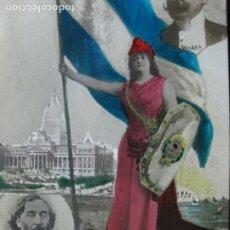 Postales: ARGENTINA-GENERAL MITRE-SAN MARTIN-GENERAL URQUIZA-AÑO 1910-POSTAL CONMEMORATIVA ANTIGUA-(70.594). Lote 205725580