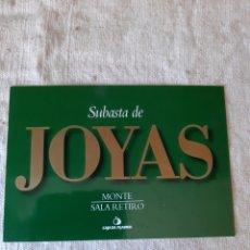 Postales: SUBASTA MONTE RETIRO JOYAS MADRID. Lote 206359441