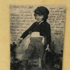 Postales: ANTIGUA POSTAL COLECCION CURRITO 4 NIÑO DISFRAZ BANDOLERO CURRO JIMENEZ PACHECO FOT LAURENT 1903. Lote 207838233
