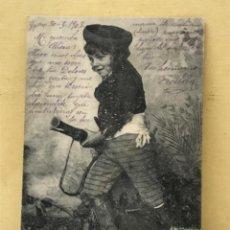 Postales: ANTIGUA POSTAL COLECCION CURRITO 5 NIÑO DISFRAZ BANDOLERO CURRO JIMENEZ PACHECO FOT LAURENT 1903. Lote 207838275