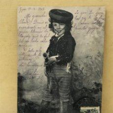 Postales: ANTIGUA POSTAL COLECCION CURRITO 8 NIÑO DISFRAZ BANDOLERO CURRO JIMENEZ PACHECO FOT LAURENT 1903. Lote 207838422