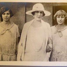Postales: P-11527. FAMILIA REAL ESPAÑOLA. REINA VICTORIA EUGENIA CON INFANTAS Mª CRISTINA Y BEATRIZ. AÑO 1920.. Lote 208045643