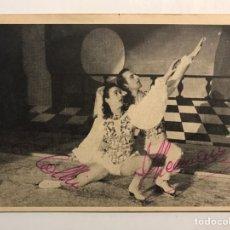 Postales: FERNAND LEEMANS & ELVIRA COLLIN, AUTÓGRAFOS ORIGINALES. PATINAJE ARTÍSTICO SOBRE HIELO (A.1949). Lote 208428206