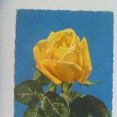 Postales: POSTAL DE UNA ROSA AMARILLA . TROQUELADA , AÑOS 60 , ESCRITA EN 1970. Lote 210347466