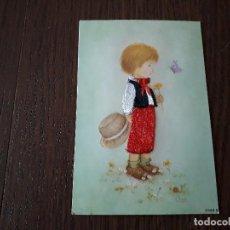 Postales: POSTAL DE ESPAÑA, BORDADA EN HILO, JOVEN CON TRAJE TÍPICO. 6348-B. Lote 211891615