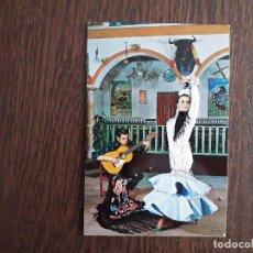 Postales: POSTAL DE ESPAÑA, BORDADA EN HILO, BAILARINA DE FLAMENCO Y GUITARRISTA.. Lote 212321578