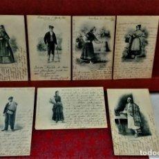 Postales: LOTE 7 POSTALES TIPOS COLECCIÓN ROMO Y FÜSELL.ENTRE 1901 A 1903. Lote 213899737