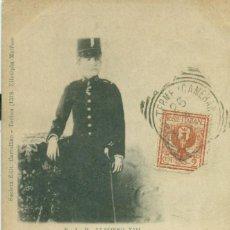 Postales: MONARQUÍA ESPAÑOLA. REY ALFONSO XIII. POSTAL ITALIANA CIRCULADA HACIA 1900. Lote 213916290