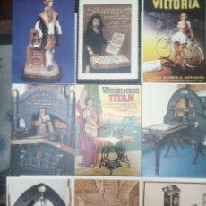 Postales: LOTE DE 18 POSTALES, MUSEO DE LA IMPRENTA Y LITOGRAFÍAS, EDITOR GAVEL, ALEMANIA. Lote 214128351