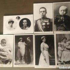 Postales: LOTE POSTALES ANTIGUAS REY ESPAÑA ALFONSO XIII REINA INFANTA PRINCIPE. Lote 217246495