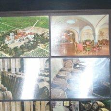 Postales: LOTE DE 6 POSTALES DE BODEGAS PEDRO DOMECQ, JEREZ DE LA FRONTERA , CADIZ. Lote 217409501