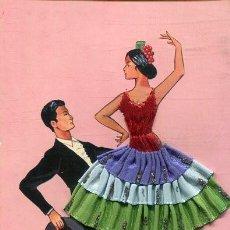 Postales: POSTAL CON BORDADO Y TELA (EXCLUSIVAS C.RIVAS 1963). Lote 217507111