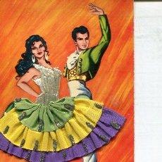 Postales: POSTAL CON BORDADO Y TELA (EXCLUSIVAS C.RIVAS 1963). Lote 217507153