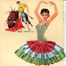 Postales: POSTAL CON BORDADO Y TELA (EXCLUSIVAS C.RIVAS 1963). Lote 217507213