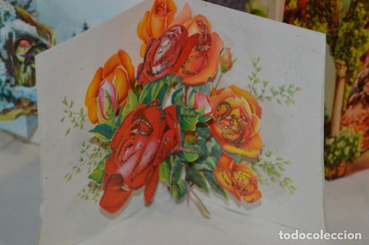 Postales: De colección, vintage, antiguos / Lote 10 Felicitaciones / Dioramas - ¡Mira, preciosos! - Foto 3 - 220477513