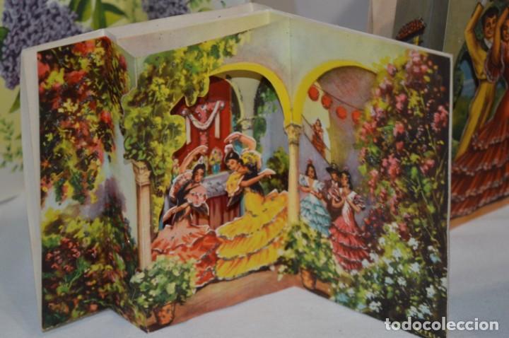 Postales: De colección, vintage, antiguos / Lote 10 Felicitaciones / Dioramas - ¡Mira, preciosos! - Foto 4 - 220477513