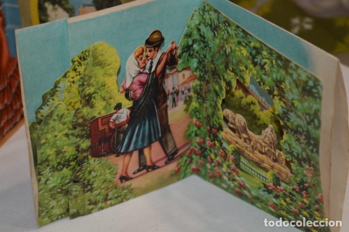 Postales: De colección, vintage, antiguos / Lote 10 Felicitaciones / Dioramas - ¡Mira, preciosos! - Foto 5 - 220477513