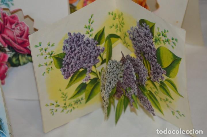 Postales: De colección, vintage, antiguos / Lote 10 Felicitaciones / Dioramas - ¡Mira, preciosos! - Foto 8 - 220477513