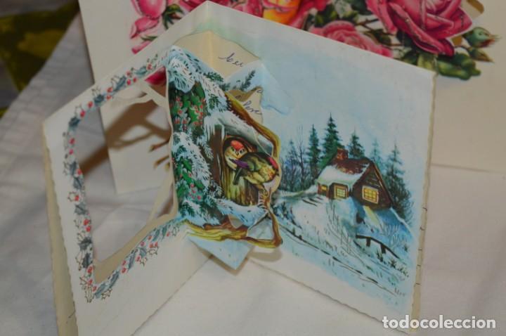 Postales: De colección, vintage, antiguos / Lote 10 Felicitaciones / Dioramas - ¡Mira, preciosos! - Foto 9 - 220477513