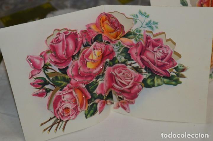 Postales: De colección, vintage, antiguos / Lote 10 Felicitaciones / Dioramas - ¡Mira, preciosos! - Foto 10 - 220477513