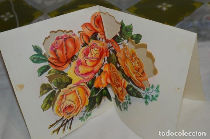 Postales: De colección, vintage, antiguos / Lote 10 Felicitaciones / Dioramas - ¡Mira, preciosos! - Foto 11 - 220477513