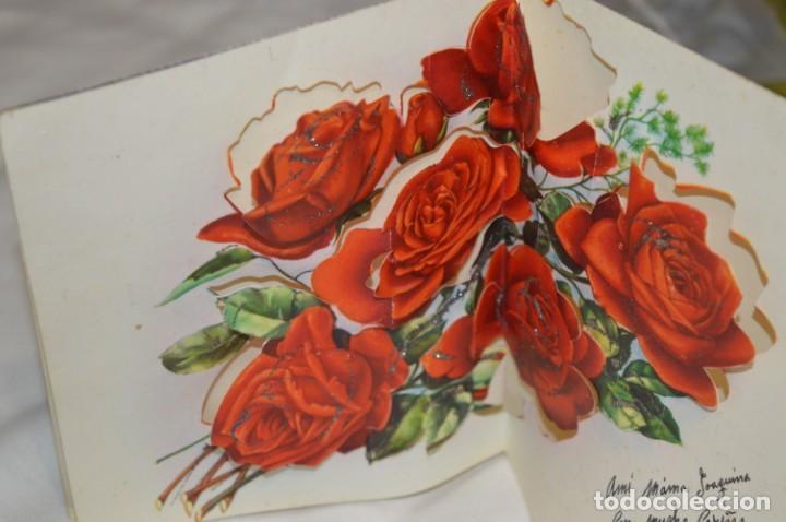 Postales: De colección, vintage, antiguos / Lote 10 Felicitaciones / Dioramas - ¡Mira, preciosos! - Foto 12 - 220477513