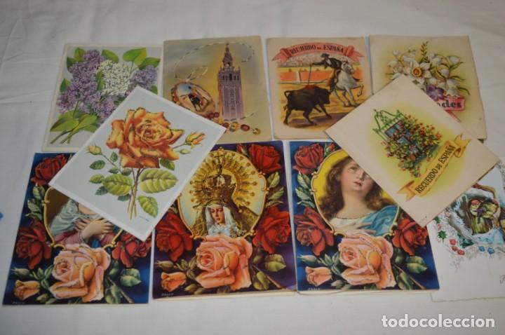 Postales: De colección, vintage, antiguos / Lote 10 Felicitaciones / Dioramas - ¡Mira, preciosos! - Foto 13 - 220477513