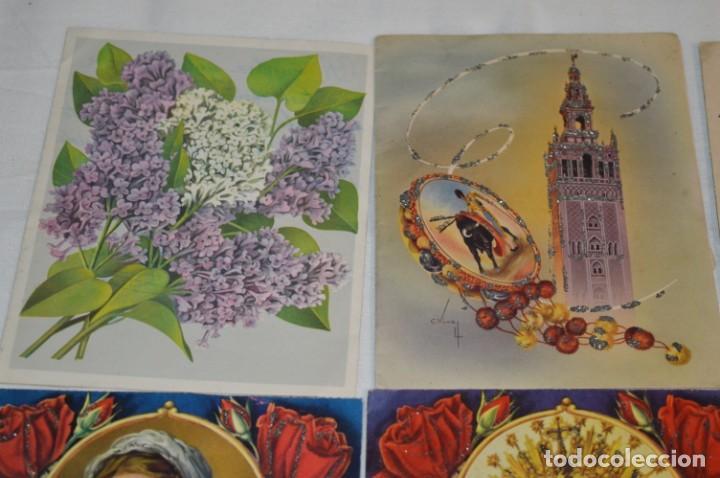 Postales: De colección, vintage, antiguos / Lote 10 Felicitaciones / Dioramas - ¡Mira, preciosos! - Foto 14 - 220477513