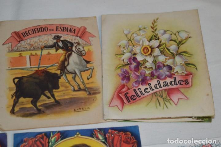 Postales: De colección, vintage, antiguos / Lote 10 Felicitaciones / Dioramas - ¡Mira, preciosos! - Foto 15 - 220477513