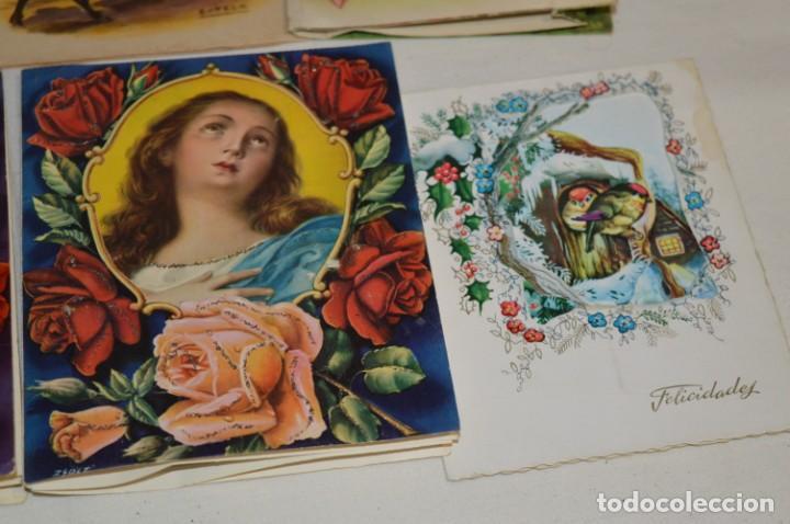 Postales: De colección, vintage, antiguos / Lote 10 Felicitaciones / Dioramas - ¡Mira, preciosos! - Foto 17 - 220477513