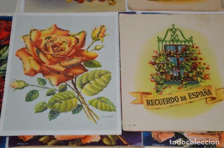 Postales: De colección, vintage, antiguos / Lote 10 Felicitaciones / Dioramas - ¡Mira, preciosos! - Foto 18 - 220477513