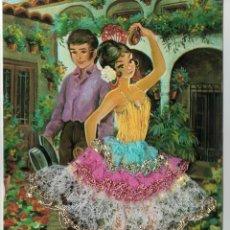 Postales: TARJETA POSTAL BORDADA, COMERCIAL PRATS, RIPOLL (GIRONA). Lote 220499938