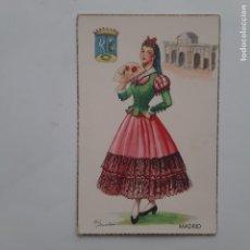 Postales: ANTIGUA POSTAL TRAJES TIPICOS MADRID P231. Lote 220948175