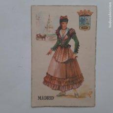 Postales: ANTIGUA POSTAL TRAJES TIPICOS MADRID P232. Lote 220948252