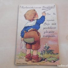 Postales: POSTAL DE BARCELONA DESPLEGABLE ANTIGUA CIRCULADA LUCIANO ROISIN. Lote 221146197