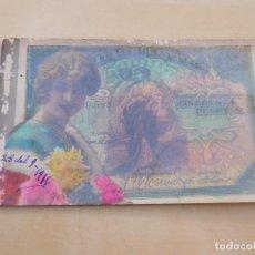 Postales: POSTAL ANTIGUA BILLETE DE 50 PESETAS. Lote 221146583