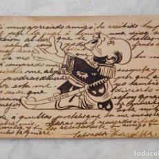 Postales: POSTAL PINTADA A MANO SALVADOR TORROELLA. MINISTRO. CIRCULADA. Lote 221268667
