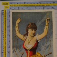 Postales: POSTAL DE CIRCO. CARTEL RETRO VINTAGE 1892 MUJER ILUSIONISTA 1091. Lote 222500800