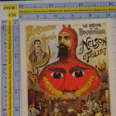 Postales: POSTAL DE CIRCO. CARTEL RETRO VINTAGE 1908 MR NELSON PANTOMIMA DIABLO DEMONIO 1092. Lote 222500841