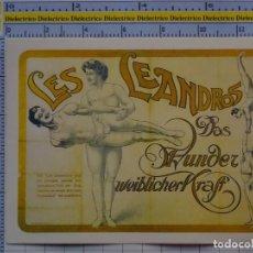 Postales: POSTAL DE CIRCO. CARTEL RETRO VINTAGE 1910 LES LEANDROS ILUSIONISTAS 1093. Lote 222500880